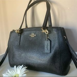 Coach f57520 Christie carryall leather satchel